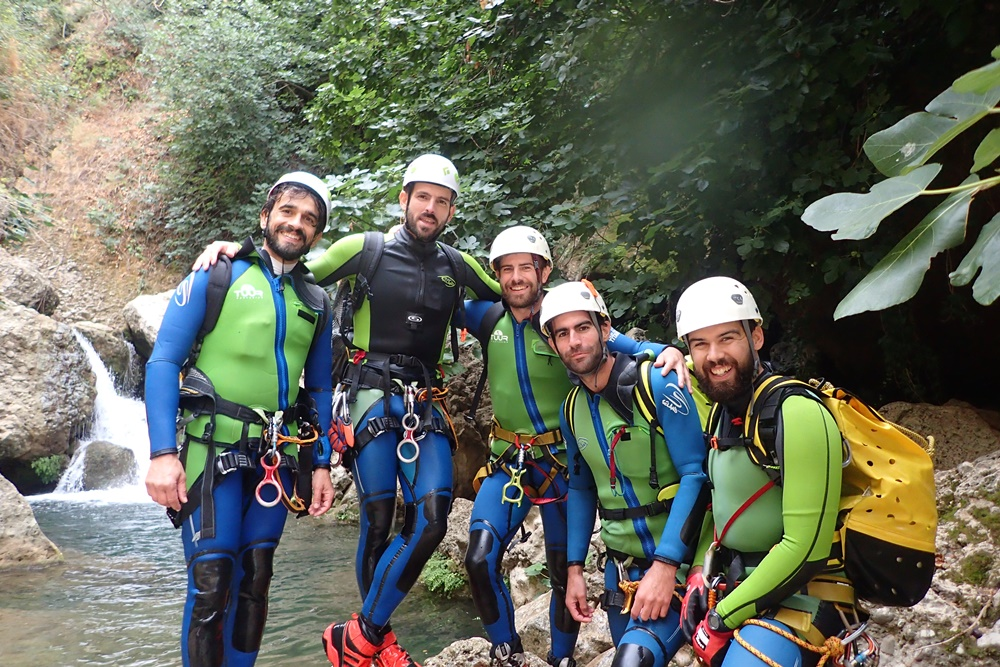 Equipe TUUR Canyoning