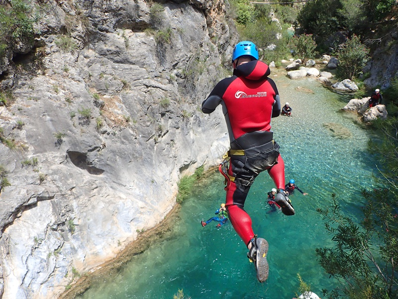 Les 4 meilleures canyonings sur la Costa del Sol, Andalousie, Espagne